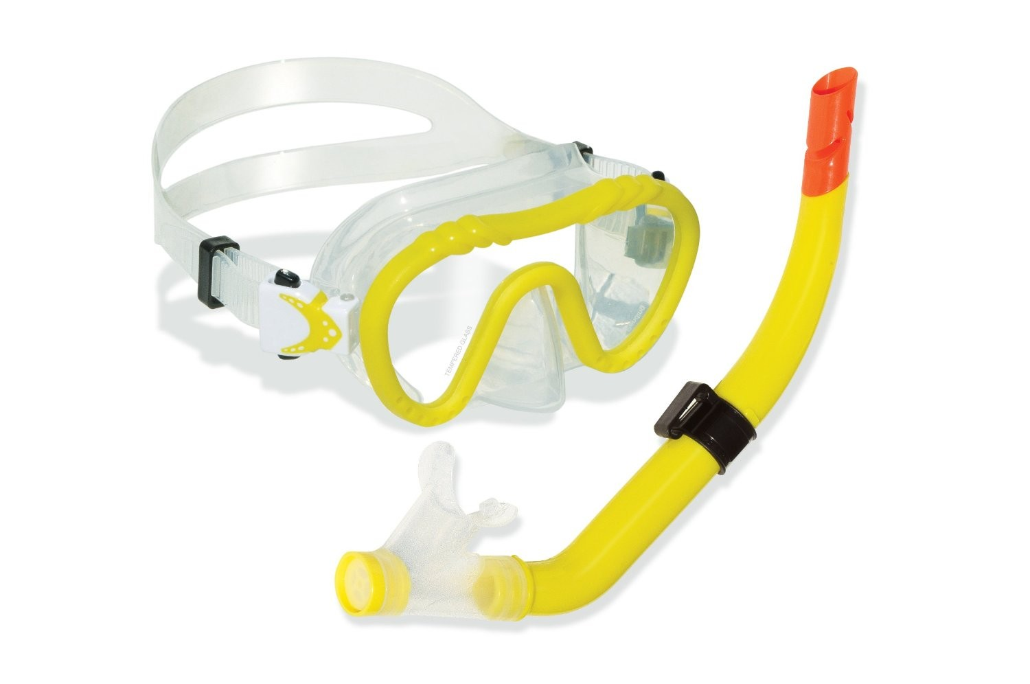 Swimline Divesite Silicone Mask and Snorkel Set (Kids Size) - Yellow