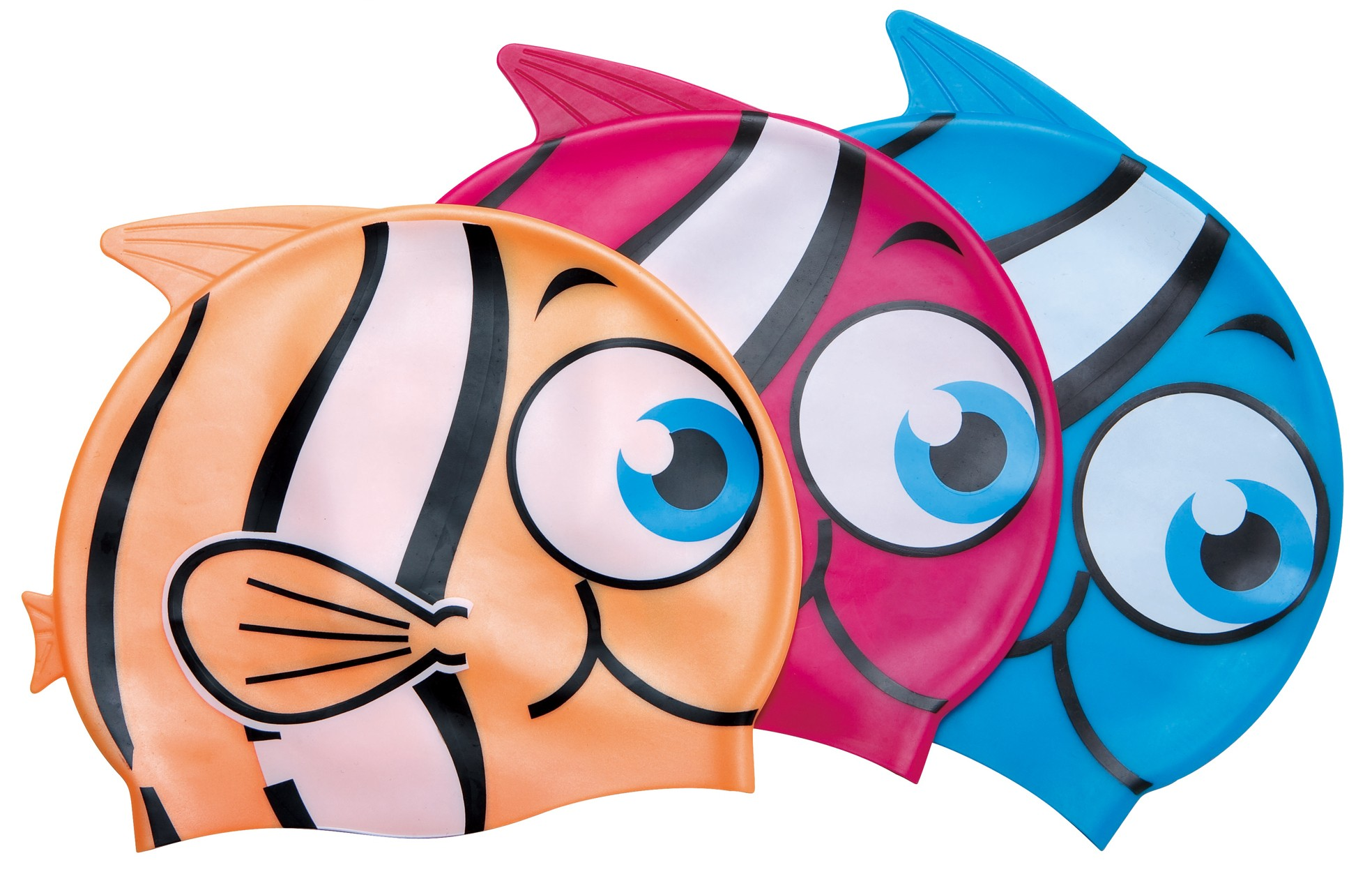 Little Buddy Silicone Swimcap for Children - 3 pack