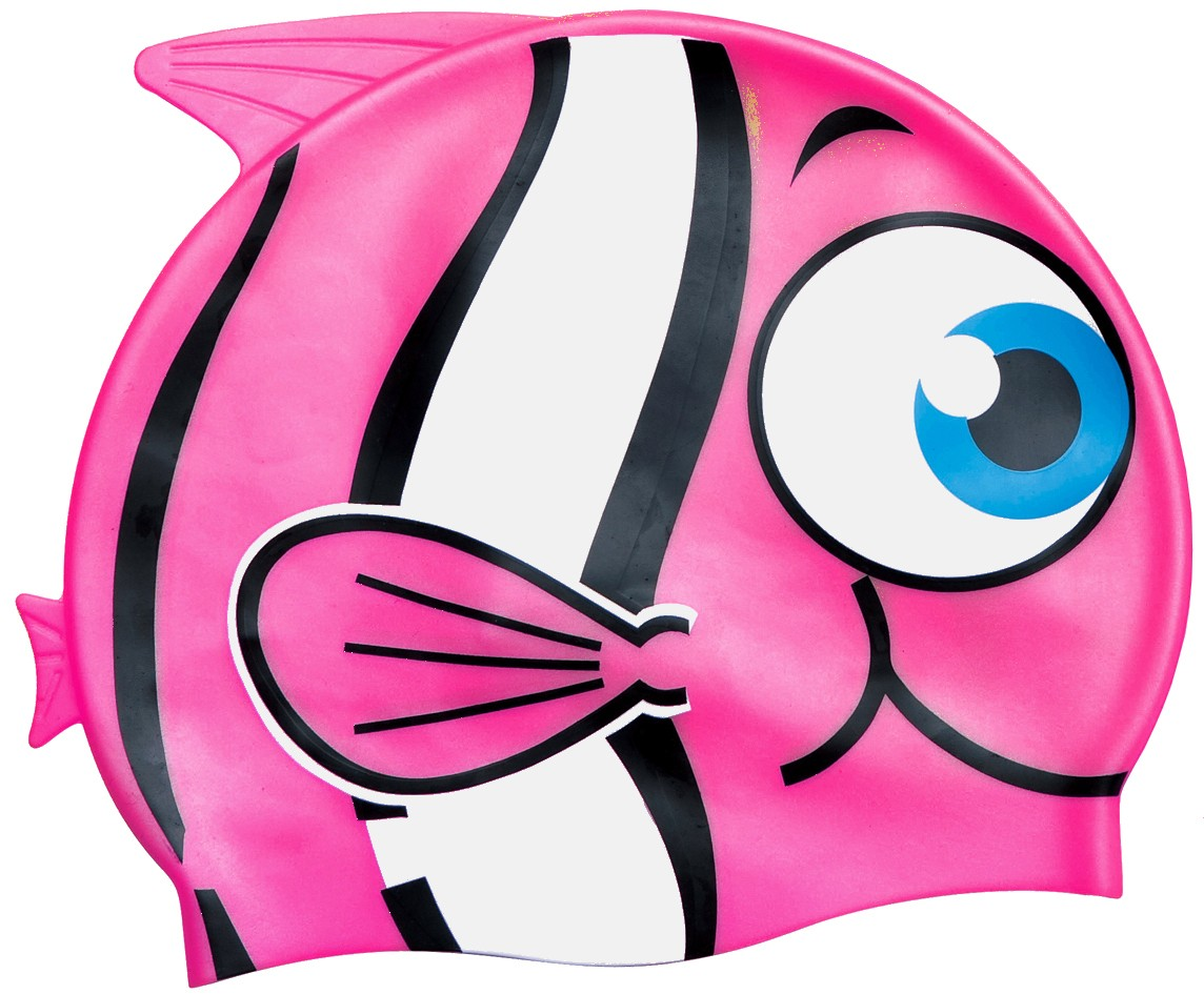 Little Buddy Silicone Swimcap for Children - Pink fish design