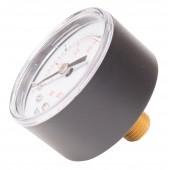 Plastic Casing Pressure Gauge 60 psi for Pool Filter - Brass Back Mount