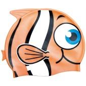 Little Buddy Silicone Swimcap for Children - Orange fish design