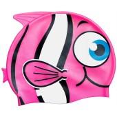 Little Buddy Silicone Swimcap for Children - Pink fish design