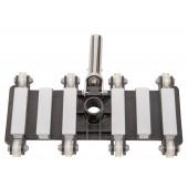 Heavy Duty Flexible Vacuum Head with Wheels and Swivel Handle